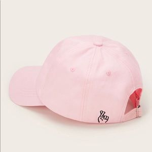 Light Pink Embroidered Baseball Hat